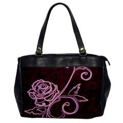 Rose Oversize Office Handbag (One Side)