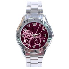 Rose Stainless Steel Watch