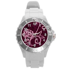 Rose Plastic Sport Watch (Large)