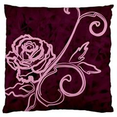 Rose Large Cushion Case (single Sided)
