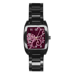 Rose Stainless Steel Barrel Watch