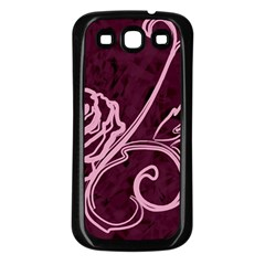 Rose Samsung Galaxy S3 Back Case (black)