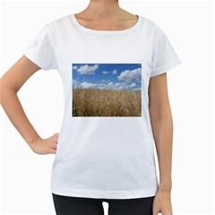 Gettysburg 1 068 Womens' Maternity T-shirt (White)