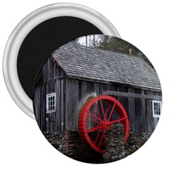 Vermont Christmas Barn 3  Button Magnet