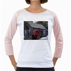 Vermont Christmas Barn Women s Long Cap Sleeve T Shirt (white)
