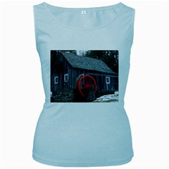 Vermont Christmas Barn Womens  Tank Top (baby Blue)