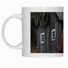 Vermont Christmas Barn White Coffee Mug