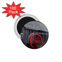 Vermont Christmas Barn 1.75  Button Magnet (100 pack)