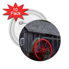 Vermont Christmas Barn 2 25  Button (10 Pack)