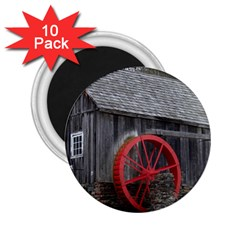Vermont Christmas Barn 2.25  Button Magnet (10 pack)