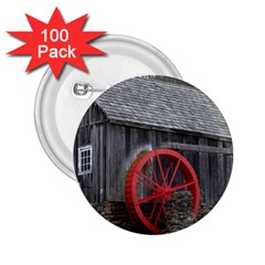Vermont Christmas Barn 2 25  Button (100 Pack)