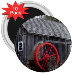 Vermont Christmas Barn 3  Button Magnet (10 pack)