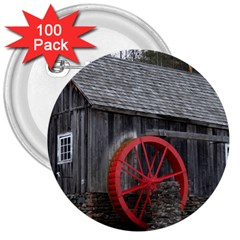 Vermont Christmas Barn 3  Button (100 pack)