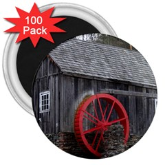 Vermont Christmas Barn 3  Button Magnet (100 pack)