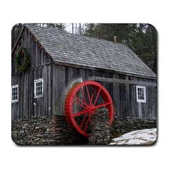Vermont Christmas Barn Large Mouse Pad (Rectangle)