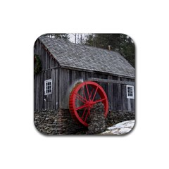 Vermont Christmas Barn Drink Coaster (square)