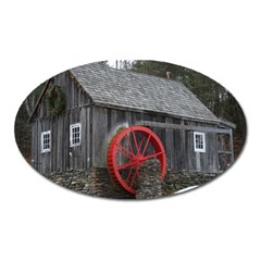 Vermont Christmas Barn Magnet (oval)