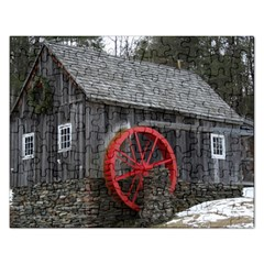 Vermont Christmas Barn Jigsaw Puzzle (Rectangle)