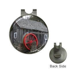 Vermont Christmas Barn Hat Clip with Golf Ball Marker