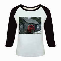 Vermont Christmas Barn Kid s Long Cap Sleeve T Shirt