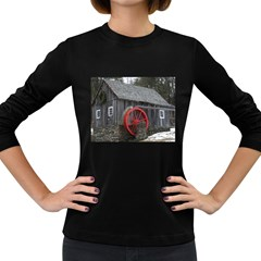 Vermont Christmas Barn Womens' Long Sleeve T Shirt (dark Colored)