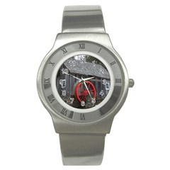 Vermont Christmas Barn Stainless Steel Watch (Slim)