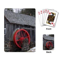 Vermont Christmas Barn Playing Cards Single Design