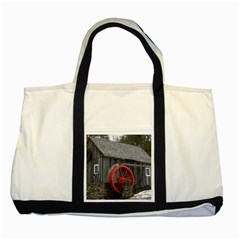 Vermont Christmas Barn Two Toned Tote Bag