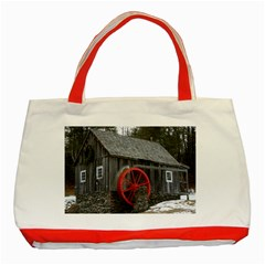Vermont Christmas Barn Classic Tote Bag (Red)