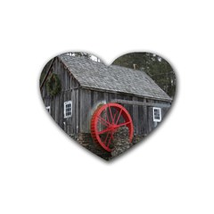 Vermont Christmas Barn Drink Coasters 4 Pack (Heart)