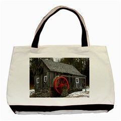 Vermont Christmas Barn Twin-sided Black Tote Bag