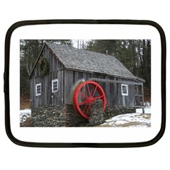 Vermont Christmas Barn Netbook Sleeve (large)