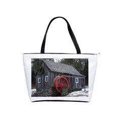 Vermont Christmas Barn Large Shoulder Bag