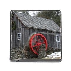 Vermont Christmas Barn Memory Card Reader with Storage (Square)