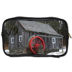 Vermont Christmas Barn Travel Toiletry Bag (two Sides)