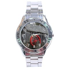Vermont Christmas Barn Stainless Steel Watch