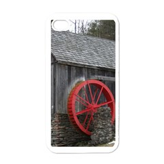 Vermont Christmas Barn Apple Iphone 4 Case (white)