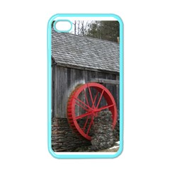 Vermont Christmas Barn Apple Iphone 4 Case (color)
