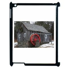 Vermont Christmas Barn Apple Ipad 2 Case (black)