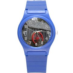 Vermont Christmas Barn Plastic Sport Watch (Small)