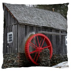 Vermont Christmas Barn Large Cushion Case (Single Sided)