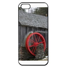 Vermont Christmas Barn Apple Iphone 5 Seamless Case (black)