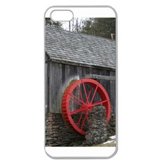 Vermont Christmas Barn Apple Seamless Iphone 5 Case (clear)
