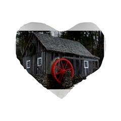 Vermont Christmas Barn 16  Premium Heart Shape Cushion