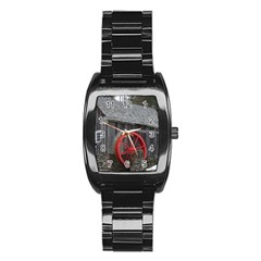 Vermont Christmas Barn Stainless Steel Barrel Watch