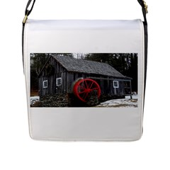 Vermont Christmas Barn Flap Closure Messenger Bag (Large)