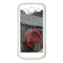 Vermont Christmas Barn Samsung Galaxy S3 Back Case (White)
