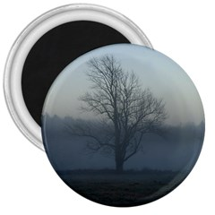 Foggy Tree 3  Button Magnet