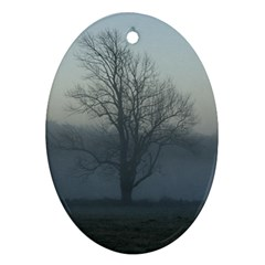 Foggy Tree Oval Ornament