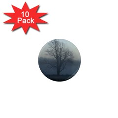 Foggy Tree 1  Mini Button Magnet (10 Pack)